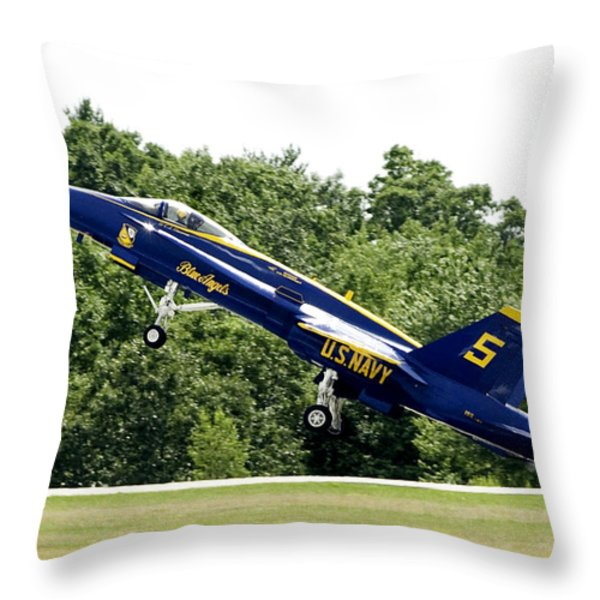 Lift Off Throw Pillow by Greg Fortier