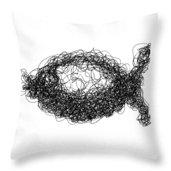 LINE 2 Throw Pillow by Rozita Fogelman