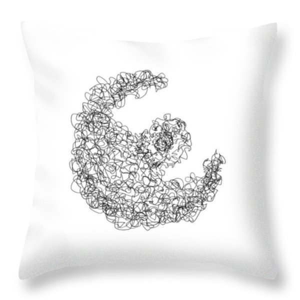 LINE 3 Throw Pillow by Rozita Fogelman
