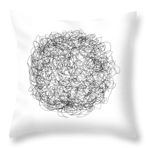 LINE 4 Throw Pillow by Rozita Fogelman