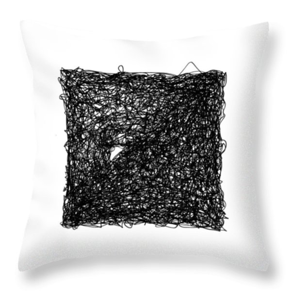 LINE 6 Throw Pillow by Rozita Fogelman