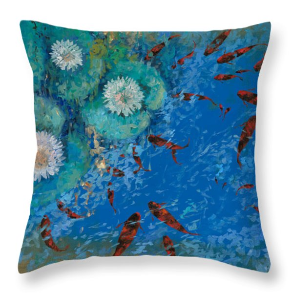lo stagno Throw Pillow by Guido Borelli