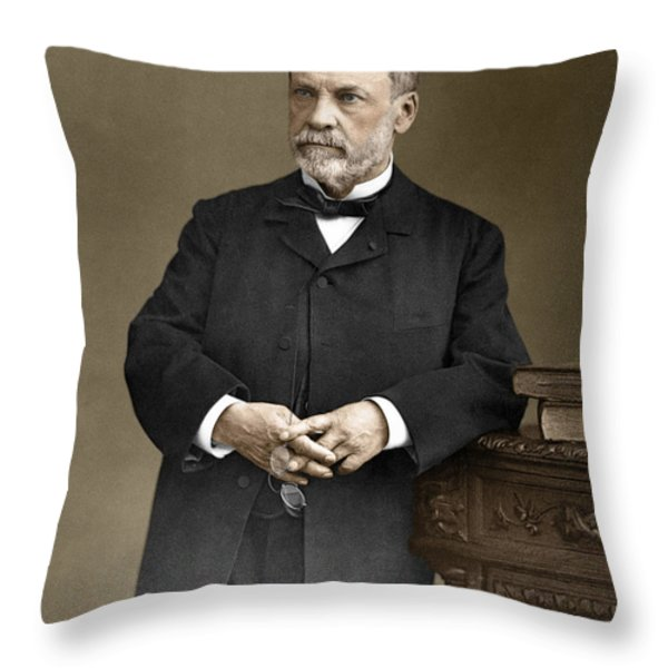 Louis Pasteur, French Chemist Throw Pillow by Omikron