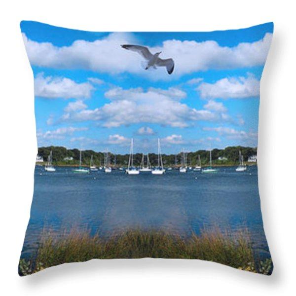 Marina Throw Pillow by Lourry Legarde