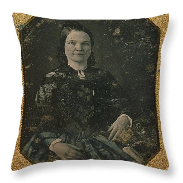 Mary Todd Lincoln, First Lady Throw Pillow by Photo Researchers