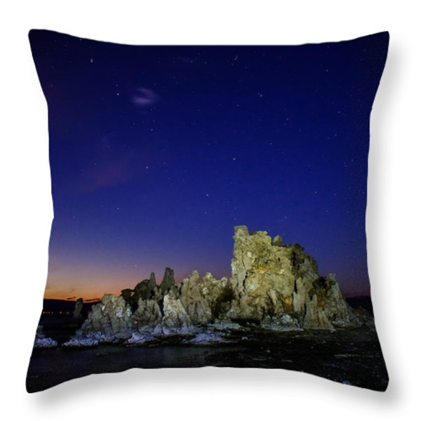 Mono Lake Big Dipper Sky Throw Pillow by La Rae  Roberts