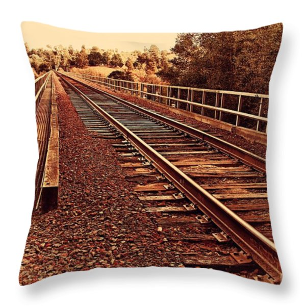 Muir Railroad Trestle In Martinez California . 7d10218 Throw Pillow by Wingsdomain Art and Photography