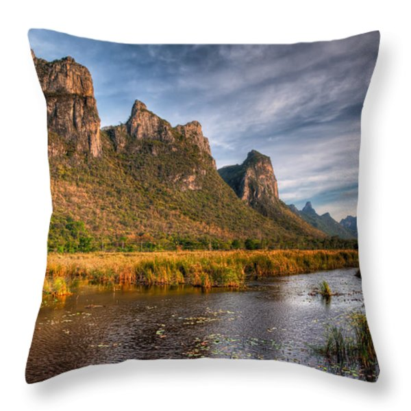 National Park Throw Pillow by Adrian Evans