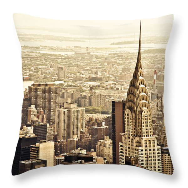 New York City  Throw Pillow by Vivienne Gucwa