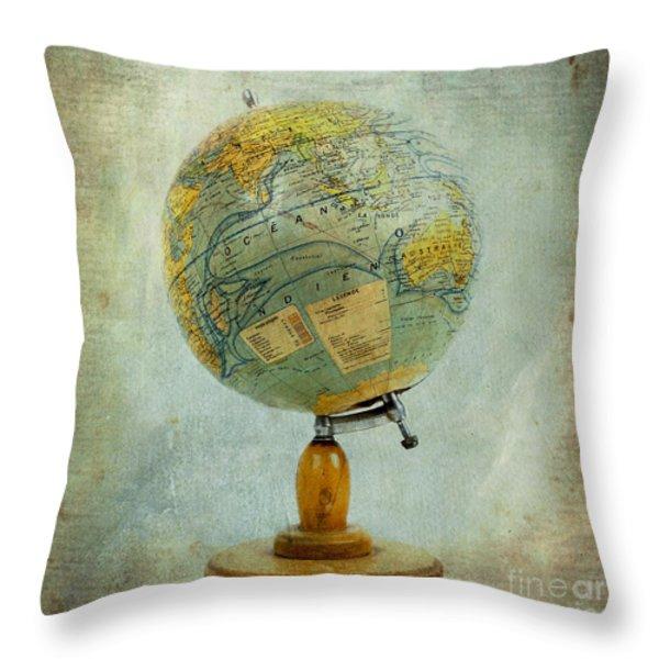 Old Globe Throw Pillow by Bernard Jaubert