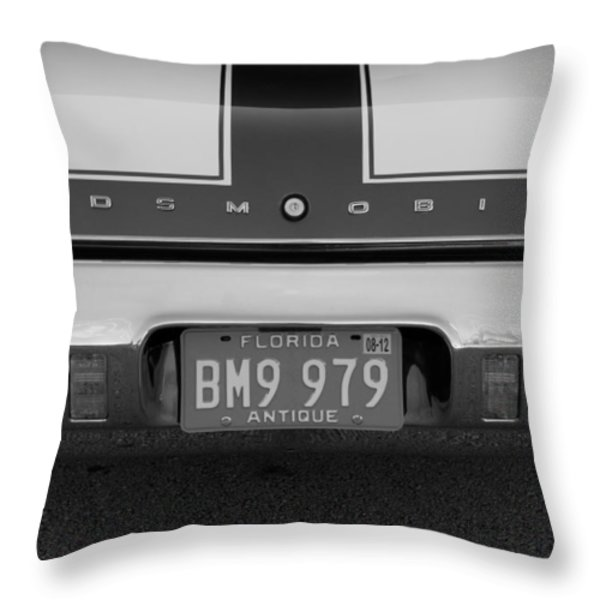 Olds Cs In Black And White Throw Pillow by Rob Hans