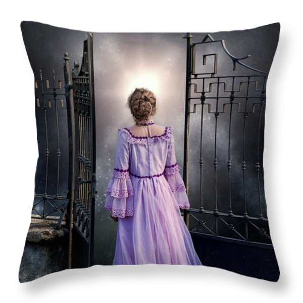 open gate Throw Pillow by Joana Kruse
