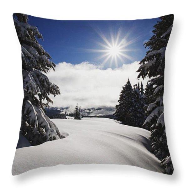 Oregon Cascades, Oregon, United States Throw Pillow by Craig Tuttle