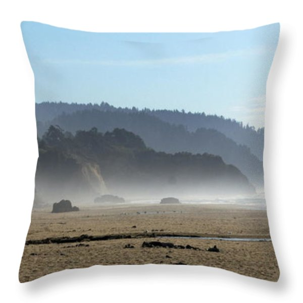 Oregon Coast 8 Throw Pillow by Marty Koch
