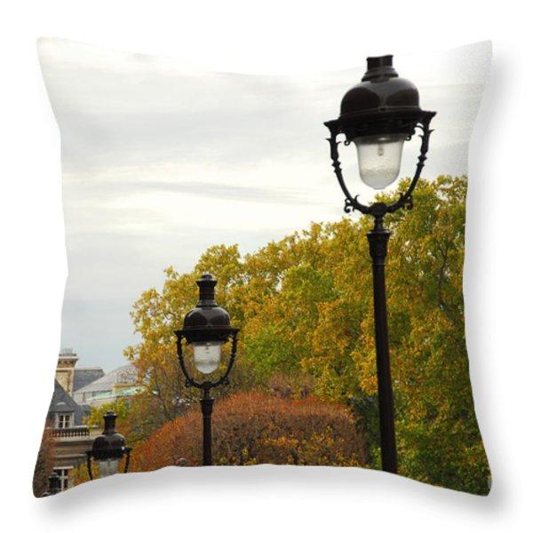 Paris street Throw Pillow by Elena Elisseeva
