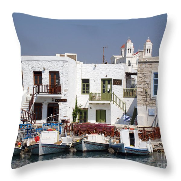 Paros  Throw Pillow by Jane Rix