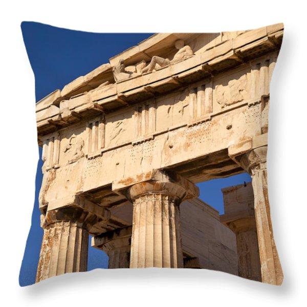 Parthenon Throw Pillow by Brian Jannsen