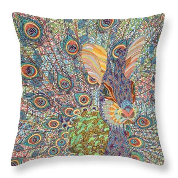 Peabit  Throw Pillow by Erika Pochybova