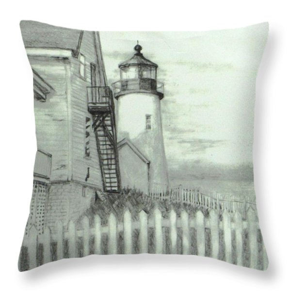 Pemaquid lighthouse  Throw Pillow by Jack Skinner