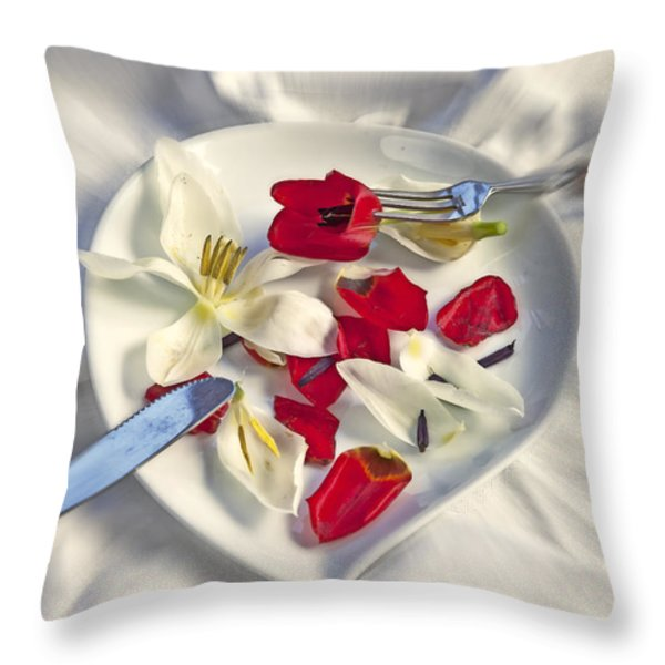 petals Throw Pillow by Joana Kruse