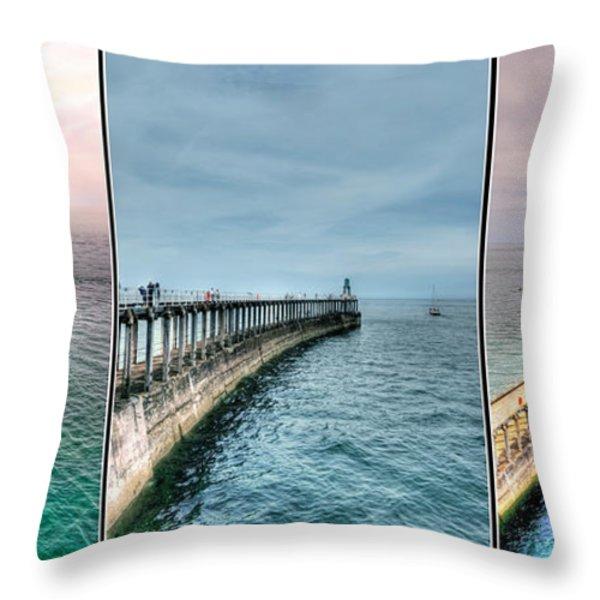 Pier Throw Pillow by Svetlana Sewell