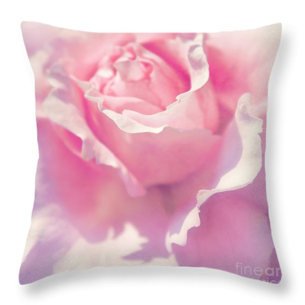 Pink Throw Pillow by Angela Doelling AD DESIGN Photo and PhotoArt