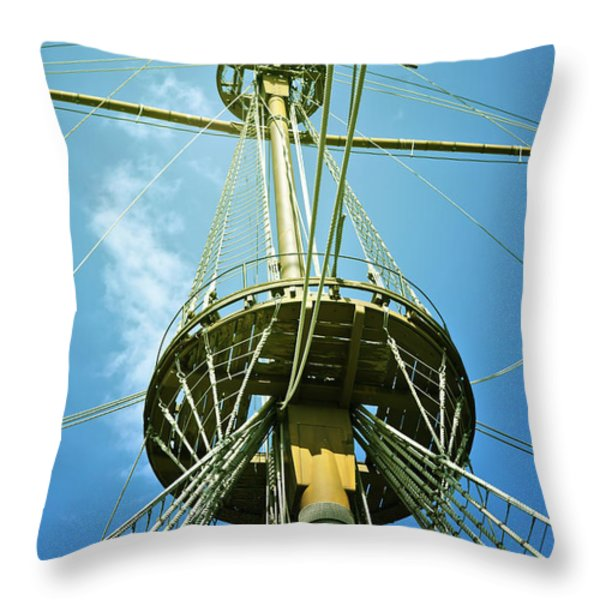 pirate ship Throw Pillow by Joana Kruse