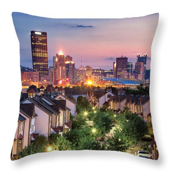 Pittsburgh 7 Throw Pillow by Emmanuel Panagiotakis