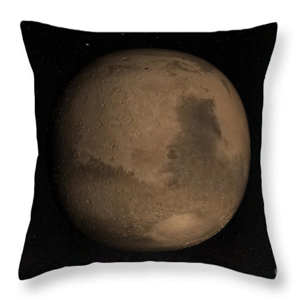 Planet Mars Throw Pillow by Stocktrek Images