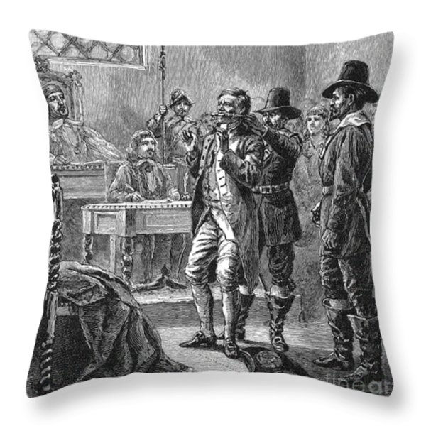 Puritan Punishment Throw Pillow by Granger