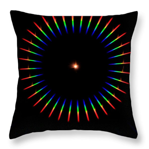Quicklime Spectra Limelight Throw Pillow by Ted Kinsman