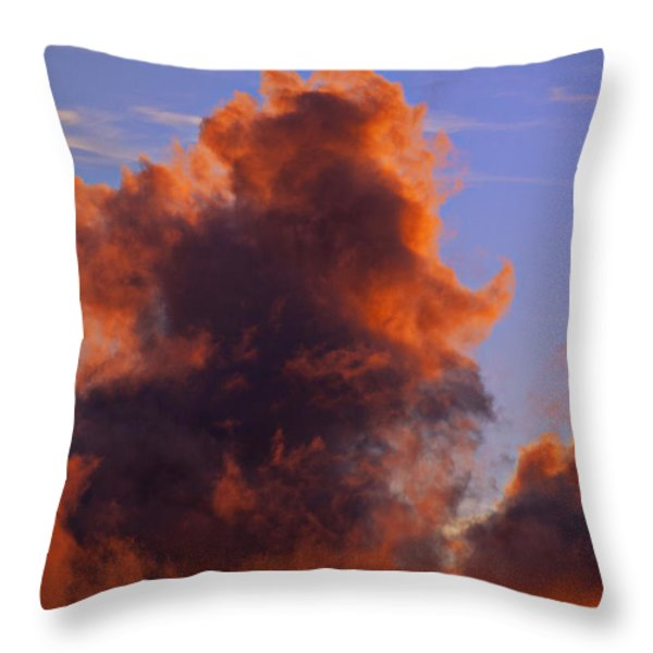 Red Clouds Throw Pillow by Garry Gay