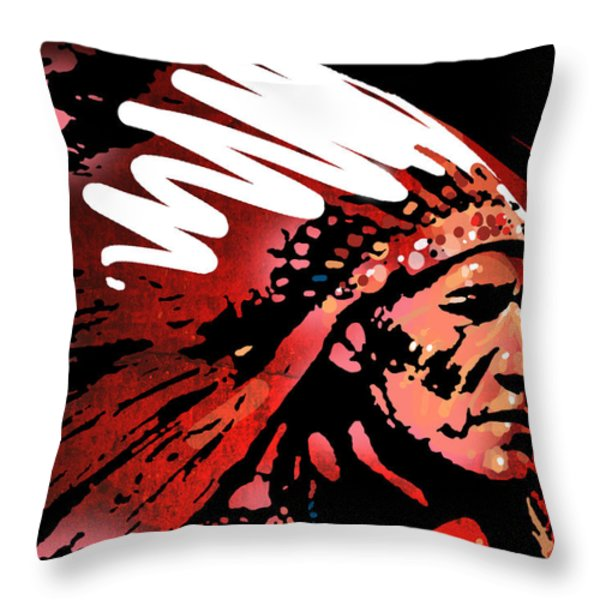 Red Pipe Throw Pillow by Paul Sachtleben