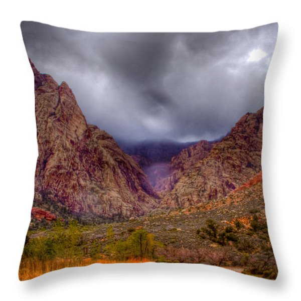 Red Rock Canyon Throw Pillow by David Patterson