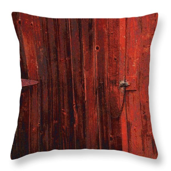 Red Shed Throw Pillow by RC DeWinter
