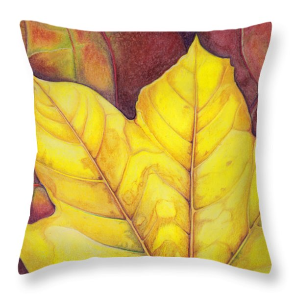 Releaf Throw Pillow by Amy Tyler