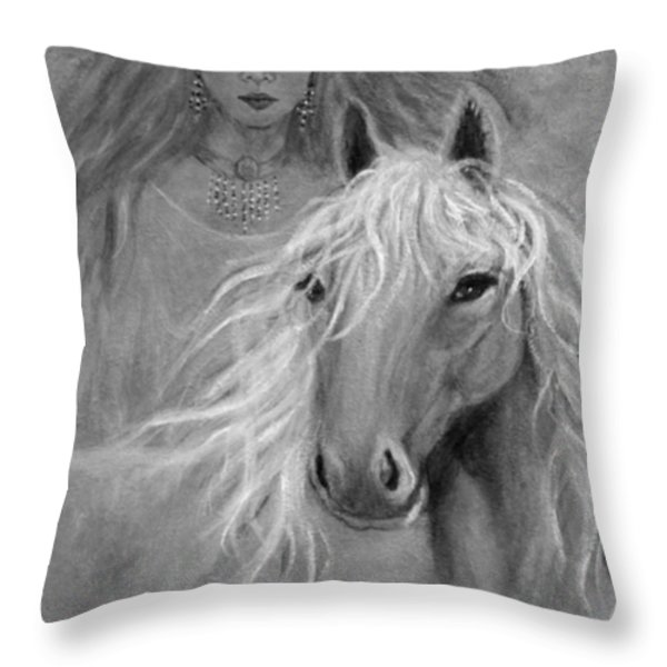 Rhiannon Throw Pillow by The Art With A Heart By Charlotte Phillips
