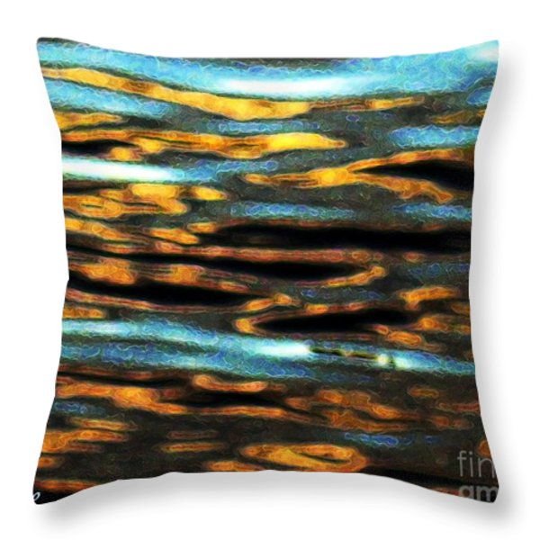 Ripples Throw Pillow by Dale   Ford