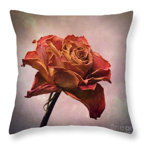 Rose Throw Pillow by Bernard Jaubert