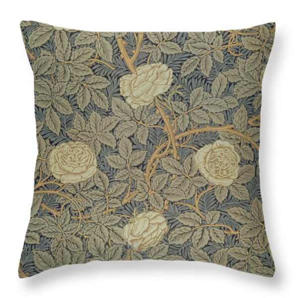 Rose Throw Pillow by William Morris