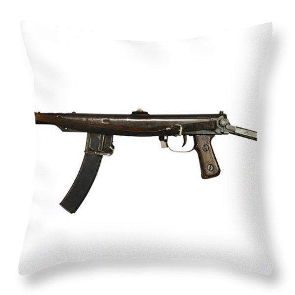 Russian Pps-43 Submachine Gun Throw Pillow by Andrew Chittock