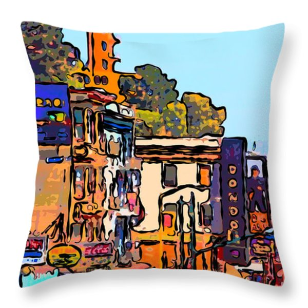San Francisco Broadway Throw Pillow by Wingsdomain Art and Photography