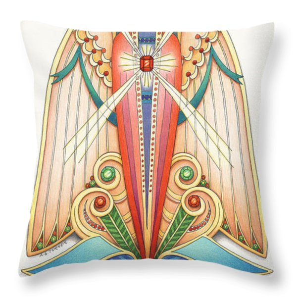 Scroll Angels - Pax Throw Pillow by Amy S Turner