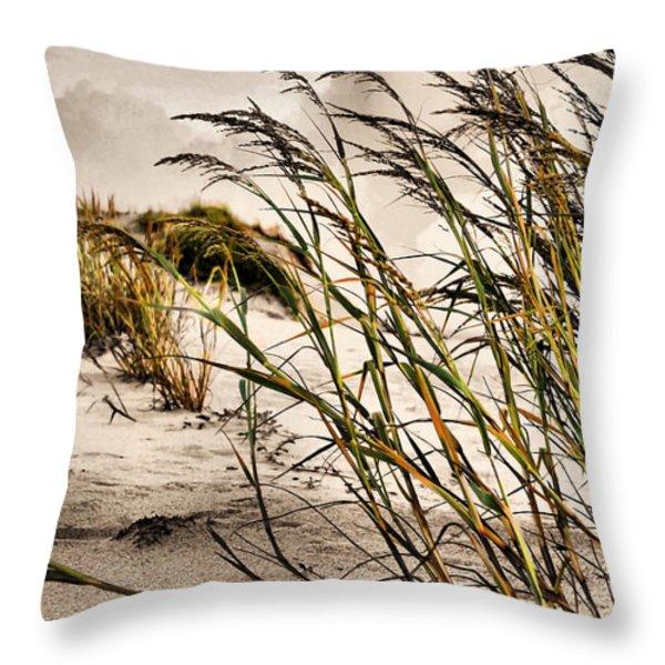 Sea Oats Throw Pillow by Kristin Elmquist