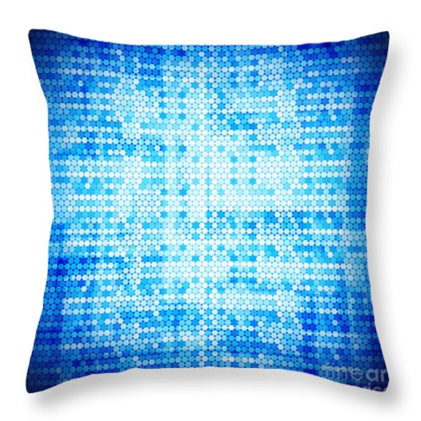 Seamless honeycomb pattern Throw Pillow by Setsiri Silapasuwanchai