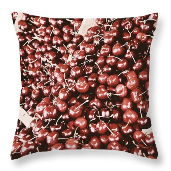 Season Of The Cherry Throw Pillow by JAMART Photography