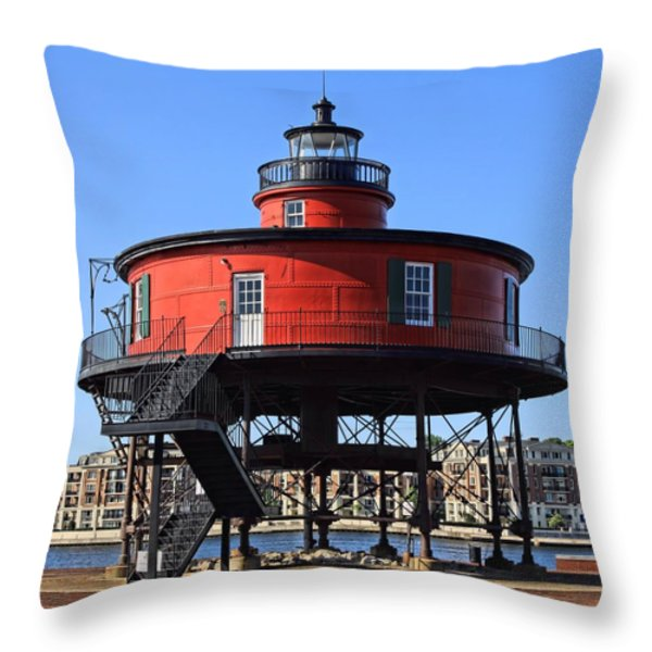 Seven Foot Knoll Throw Pillow by DJ Florek