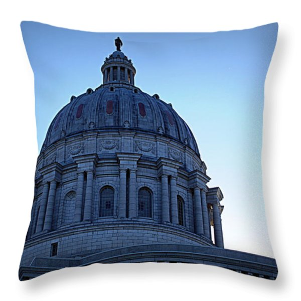 Show-me State Capitol Throw Pillow by Cricket Hackmann