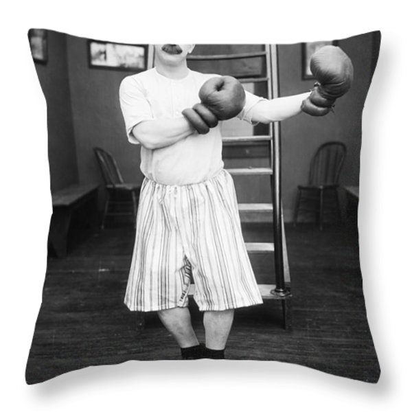 Silent Film Still: Boxing Throw Pillow by Granger