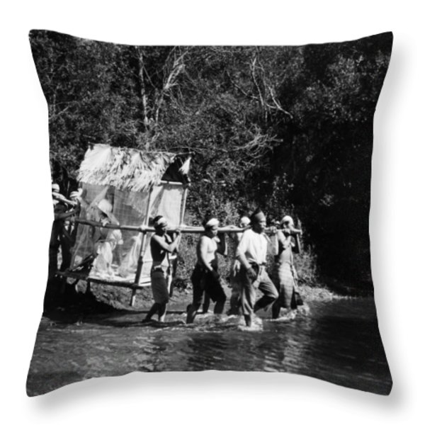 Silent Film Still: Natives Throw Pillow by Granger
